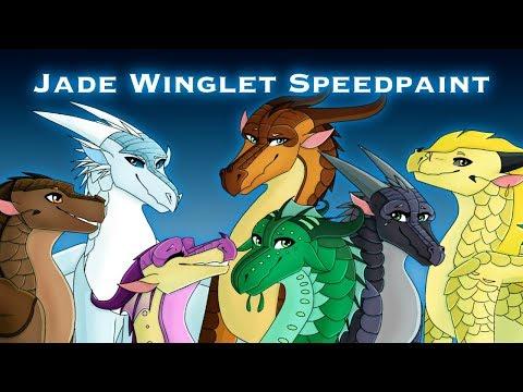 The Jade Winglet, Wings of Fire Speedpaint