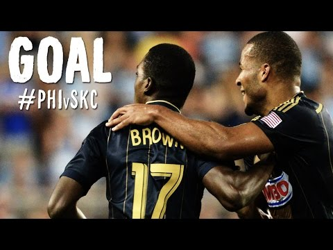 GOAL: Brian Brown scores before the break | Philadelphia Union vs. Sporting Kansas City