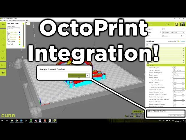 OctoPrint Integration with Cura 2 6+ Lulzbot Edition - Tutorial