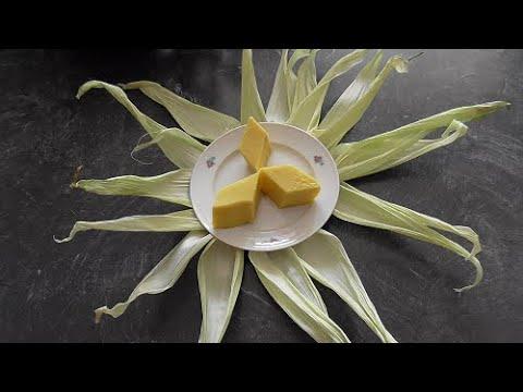 Maislapis (suikermais pudding met custard en hun kwe, dessert)