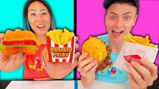 GUMMY FOOD VS REAL FOOD!!