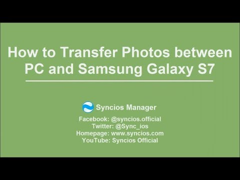 How to Transfer Photos between PC and Samsung Galaxy S7/ S7 Edge