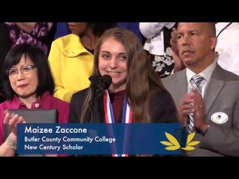 2016 New Century Scholar: Maizee Zaccone, Butler County Community College