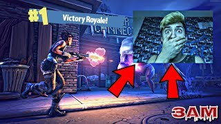 DO NOT PLAY FORTNITE BATTLE ROYALE AT 3AM!! *WARNING*