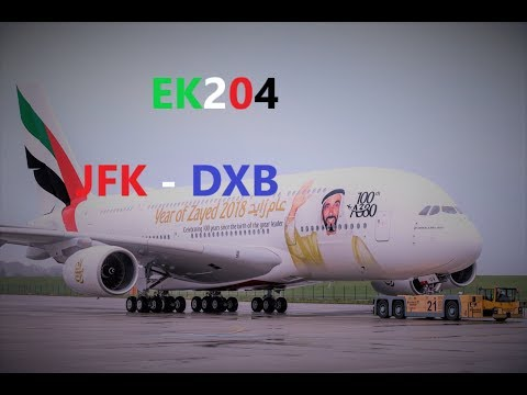 Emirates A380 NYC-Dubai JFK-DXB EK204 Trip report