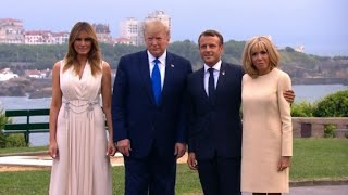 G7: Macron accueille Trump, Johnson et Merkel | AFP Images