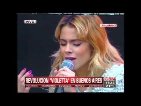 Martina Stoessel Violetta gratis en Palermo - Imagine John Lennon