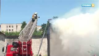 Пожар на улице Лидской