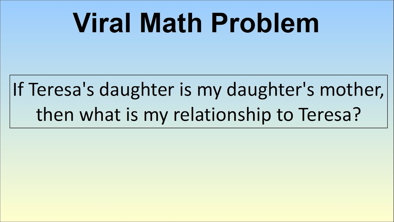 Teresas Daughter Is My Daughters Mother Viral Facebook Logic