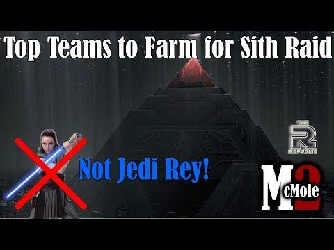 Best Teams (Not Jedi Rey!) to Farm for Sith Triumvirate Raid