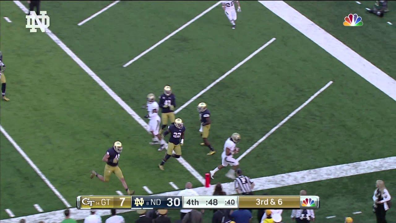 Notre Dame vs Georgia Tech Highlights - YouTube
