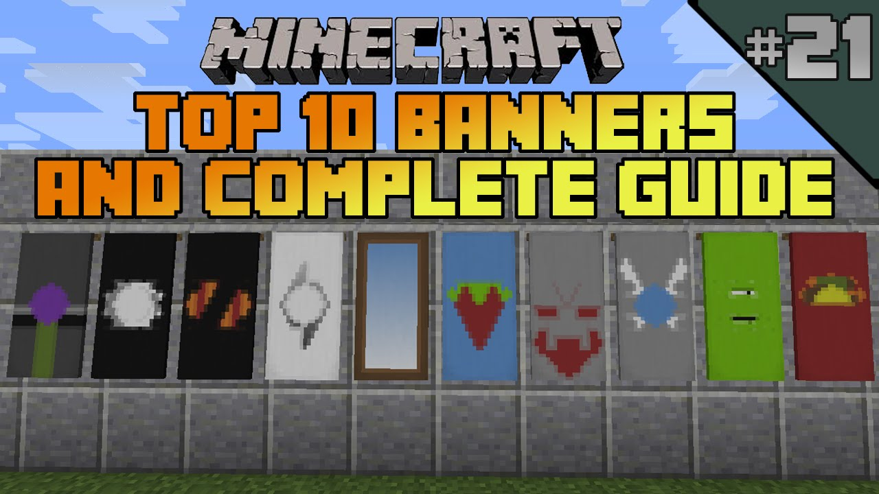 Minecraft top 10 banner designs! Ep 21 With tutorial! - YouTube
