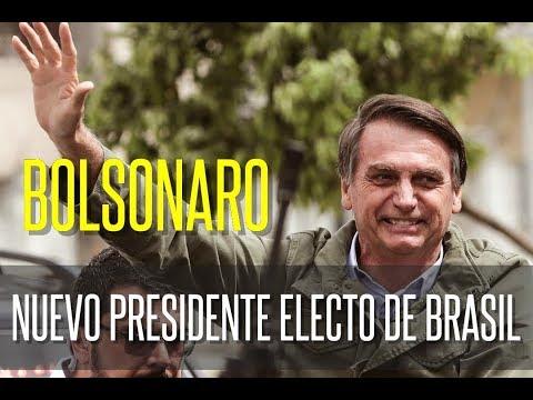 Jair Bolsonaro, nuevo presidente electo de Brasil