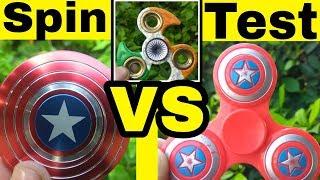indian FIDGET SPINNER VS Chinese VS CAPTAIN AMERICA Fidget Spinner | SPIN TEST | in Hindi