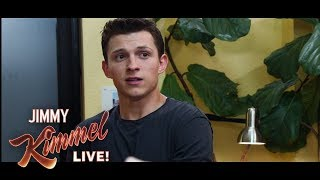 Tom Holland & Jimmy Kimmel in Exclusive Scene from SpiderMan: Far From Home