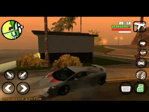 gta san andreas android mod with 3 superfast car doovi. Black Bedroom Furniture Sets. Home Design Ideas