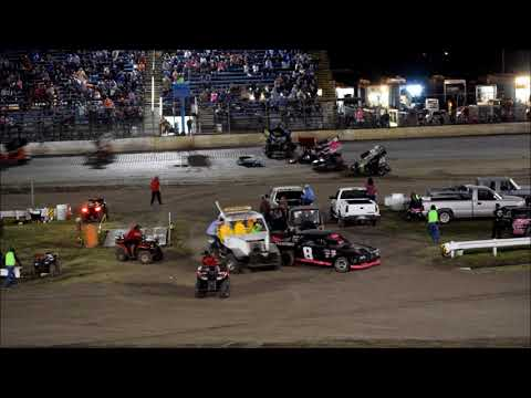 RIVERSIDE INT SPEEDWAY USCS SAT 600 MINI SPRINTS 10-21-17