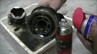 How to rebuild a CV Axle Drive Shaft on a IFS 4runner Hilux Surf