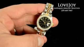 Ladies Rolex DateJust Diamond Bezel 18k/SS Watch Date Just 69173