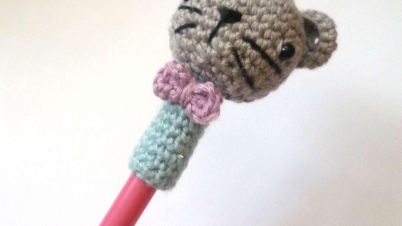 How To Make A Cute Crocheted Kitten Cap Pen Diy Crafts Tutorial