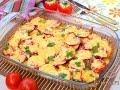 Запеканка из баклажанов помидоров и картофеля