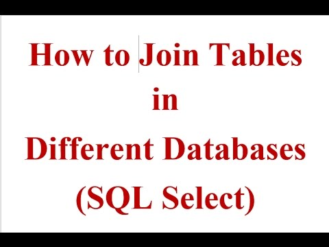 How To Join Tables From Different Databases In Sql Select Youtube