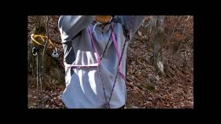 슬링을 이용한 비상안전벨트 연결 (설악산 장수대)