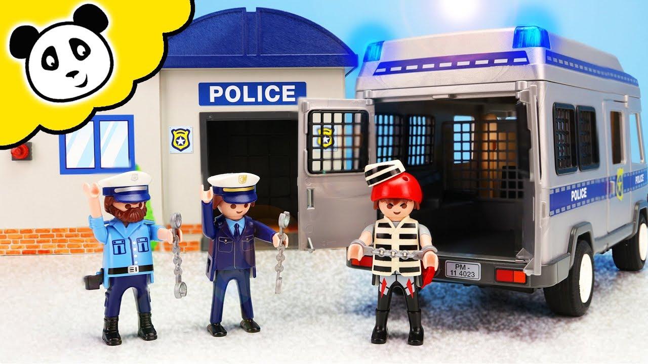 playmobil polizei  mega Überfall auf