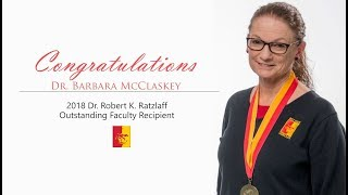 Dr. Barbara McClaskey // 2018 Outstanding Faculty Recipient