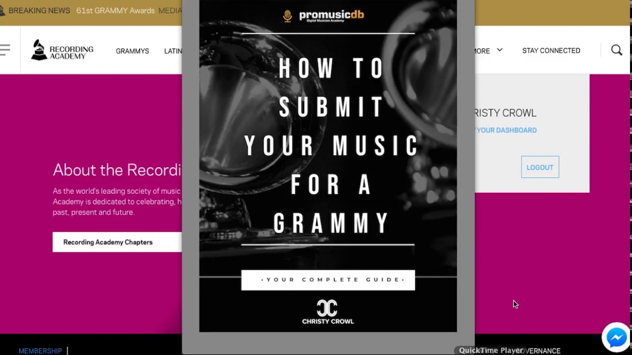 How To Submit Your Music For A Grammy (Video Tutorial)
