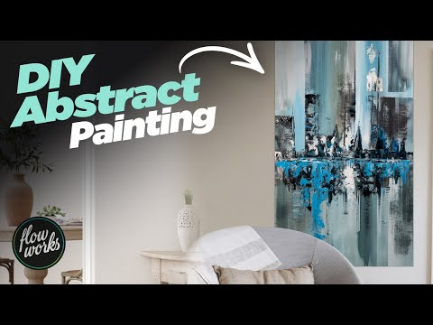 DIY Large Abstract Painting Techniques - CONTEMPORARY ART