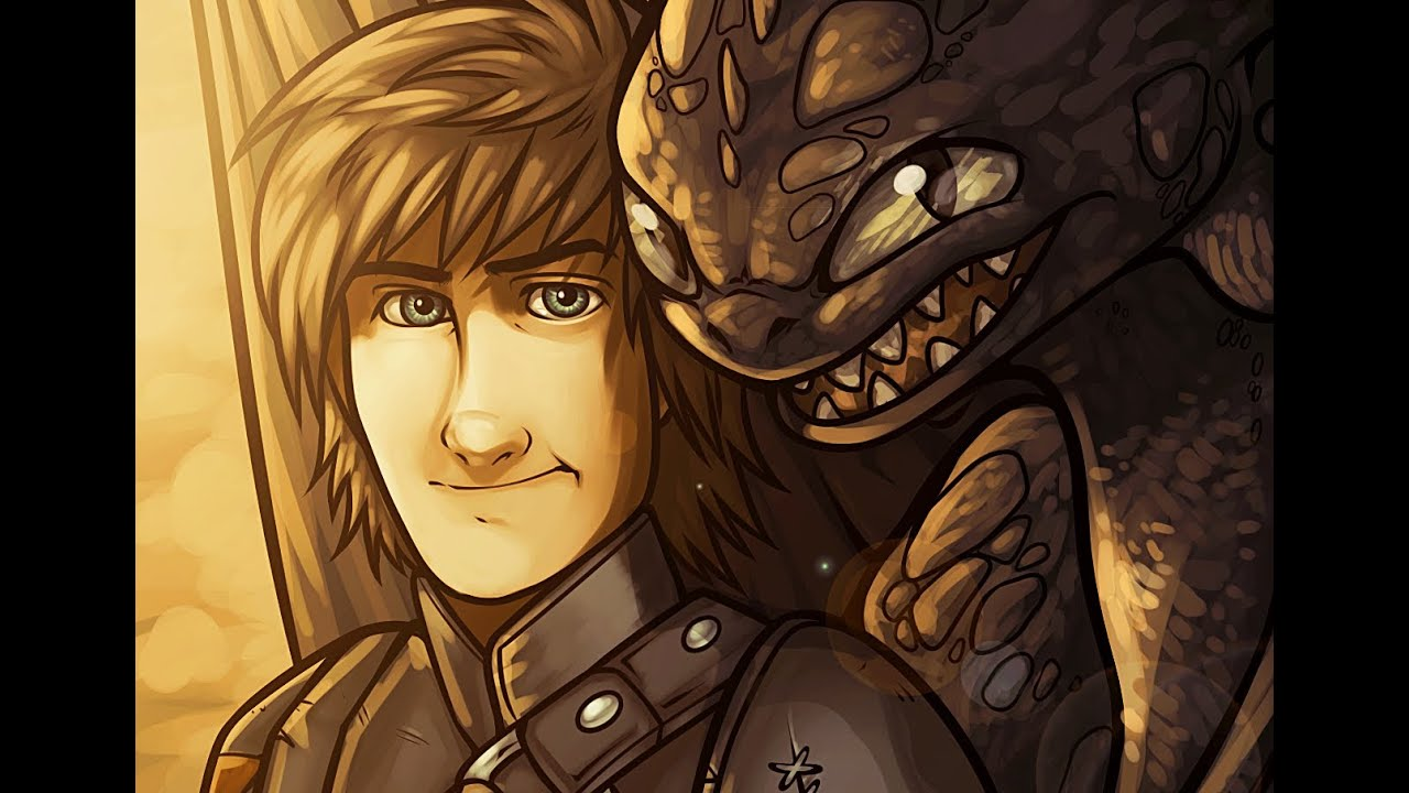 Drawing Hiccup And Toothless From How To Train Your Dragon 2, Painting  Toothless In Photoshop Cs6  Youtube