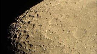 Луна через самодельный телескоп 2