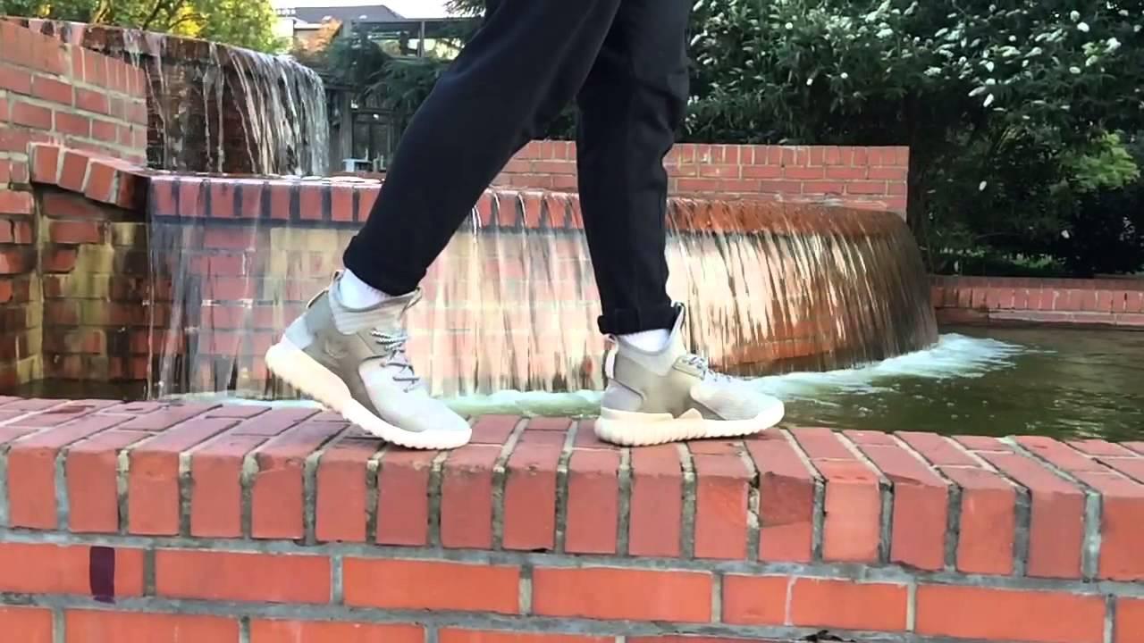 adidas tubular x primeknit sesame