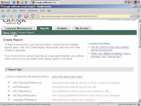 Google Adwords Tutorial  How To Create Adwords Reports  Youtube