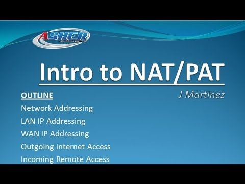 Asher Dallas Lectrue - Intro to NAT and PAT (Networking)