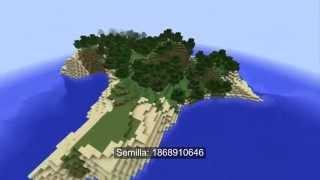 10 Semillas de islas en Minecraft 1.7.10