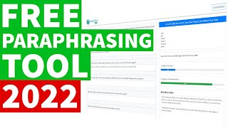 Free Paraphrasing Tool to Rewrite an Article Making it 100% Unique and Plagiarism Free (2020)