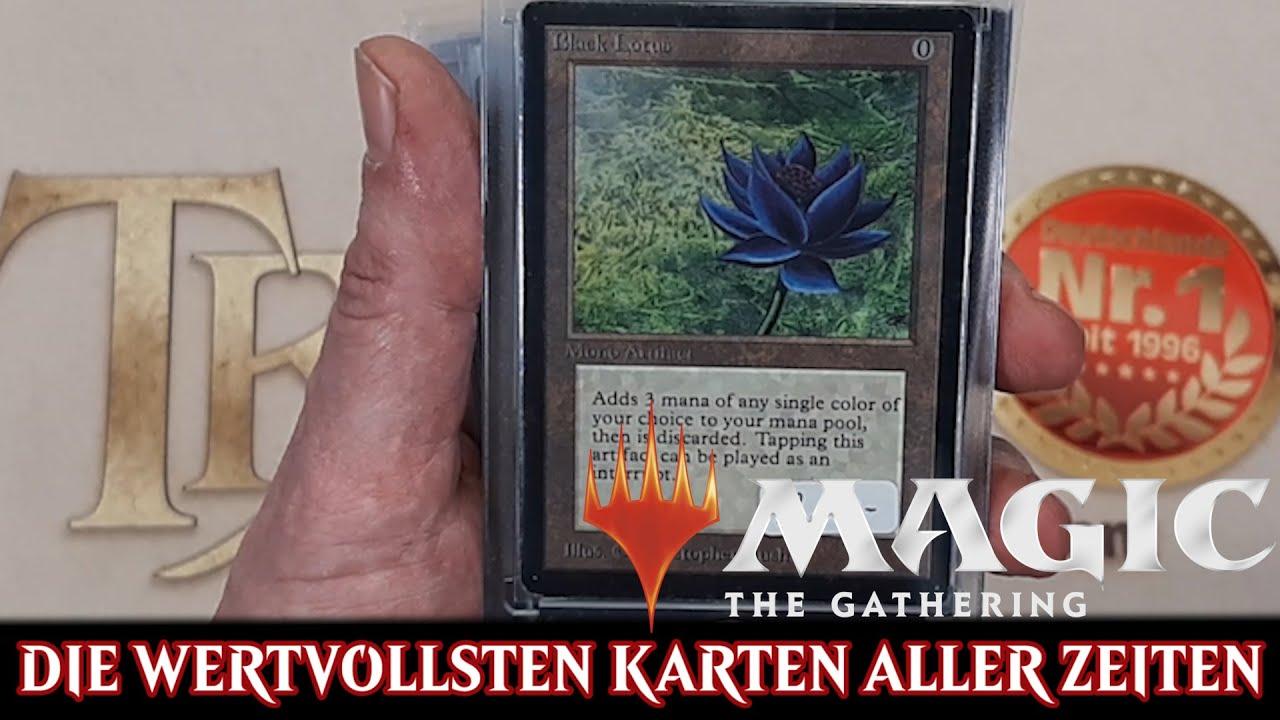 Die wertvollsten Magic Karten aller Zeiten Black Lotus uvm