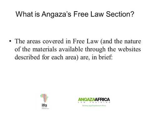 Angaza Africa Law Training - Section on Free Law