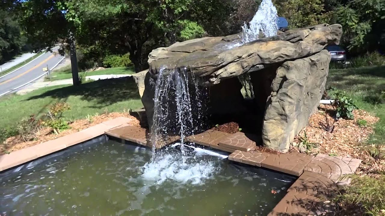Backyard Grotto Waterfall Ideas