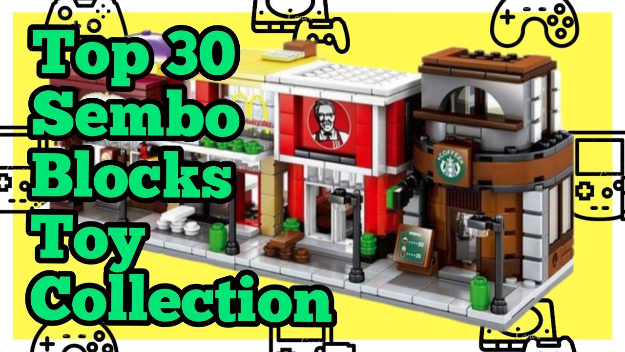 Top 30 SEMBO Blocks | Mini Store DIY | Building Bricks Street Shop |  Educational Kids toys