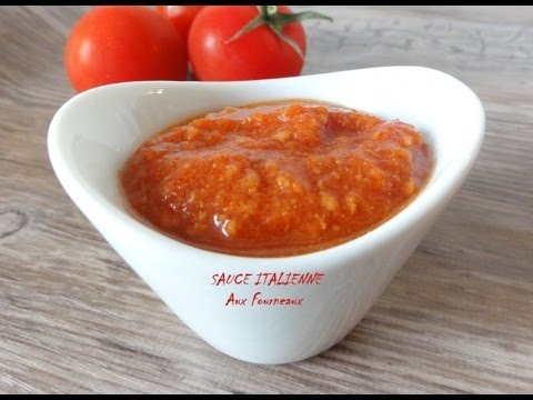 recette sauce tomate italienne youtube. Black Bedroom Furniture Sets. Home Design Ideas