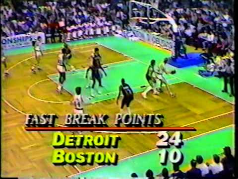 NBA Greatest Duos: Larry Bird & Kevin McHale vs Pistons (1986)