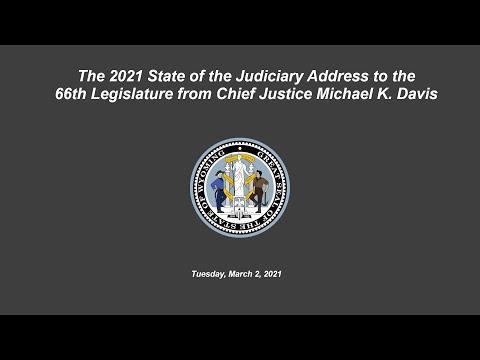 2021 Wyoming State of the Judiciary Address