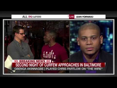 All In With Chris Hayes with Chris and Bodie from The Wire