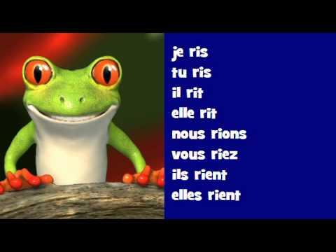 Conjugaison Musicale Indicatif Present Verbe Rire Youtube