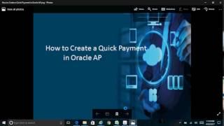 So Erstellen Sie eine Schnelle Zahlung in Oracle AP