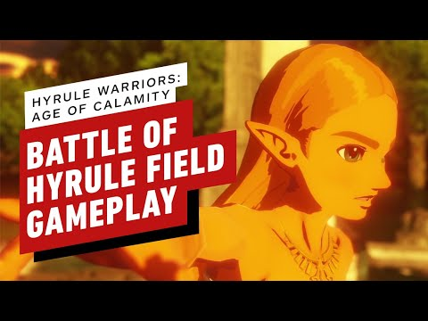 Hyrule Warriors: Age of Calamity Demo - Battle of Hyrule Field Gameplay