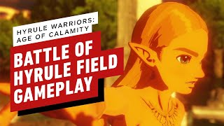 Hyrule Warriors Age Of Calamity Demo Battle Of Hyrule Field Gameplay Youtube